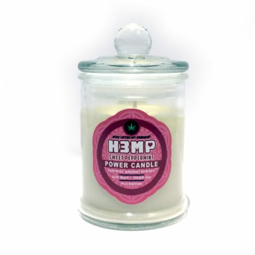 H3MP CANDLE IN JAR: PEPPERMINT